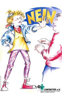 Plakat NEIN - Zartbitter e.V., Ursula Enders / Dorothee Wolters, ca. 1993 (FMT-shelfmark: PT.119)