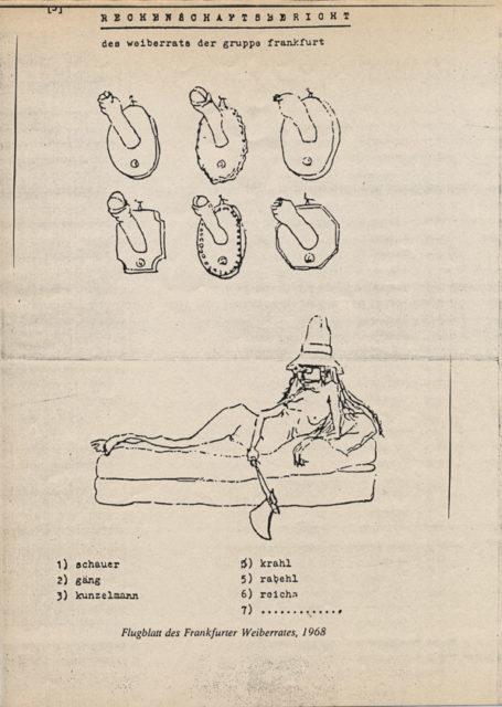 Flugblatt des Frankfurter Weiberrats, 1968 (FMT-Signatur: FB.04.188)