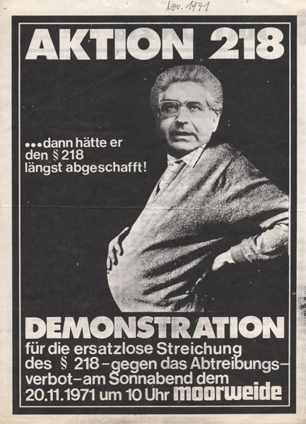 Flugblatt der Aktion 218 (FMT-Signatur: FB.05.007)