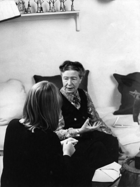Simone de Beauvoir and Alice Schwarzer, 1971, privat collection A.Schwarzer