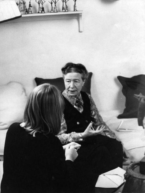 Simone de Beauvoir und Alice Schwarzer, 1971, Privatsammlng A.Schwarzer