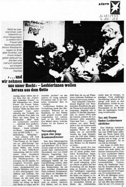 Stern Nr. 48, 1973 (FMT-Pressedokumentation: PD-FE.03.01-1973)