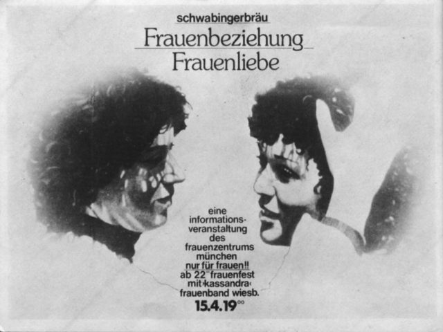 Schwabingerbräu : Frauenbeziehung Frauenliebe, Aufkleber (FMT-Signatur: VAR.01.109)