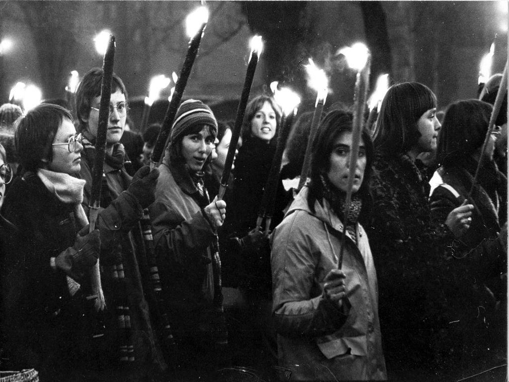1. Nacht-Demo in Berlin 1977, Bildquelle: EMMA-Archhiv, ©Margarete Redl-von Peinen