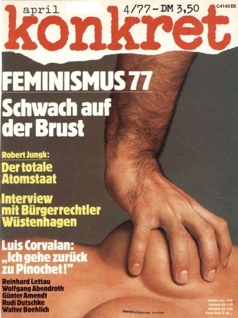 Titelbild konkret, April 1977
