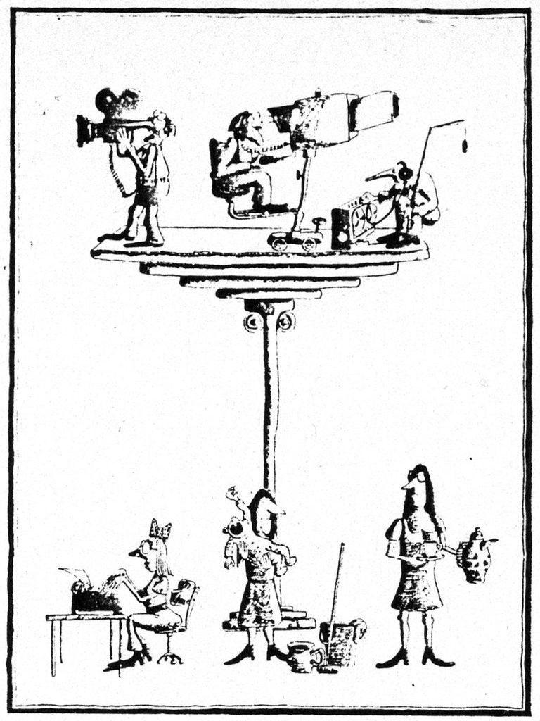 Illustration aus Bericht über das Herbsttreffen Frauen in den Medien. In: Frauenblatt, Dezember 1978 (FMT-Pressedokumentation: PD-FE.03.01-1978)