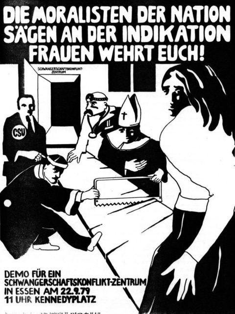Plakat zur Demonstration gegen den Paragraphen 218 in Essen, 22.09.1979 (FMT-Signatur: in PD-SE.11.22)