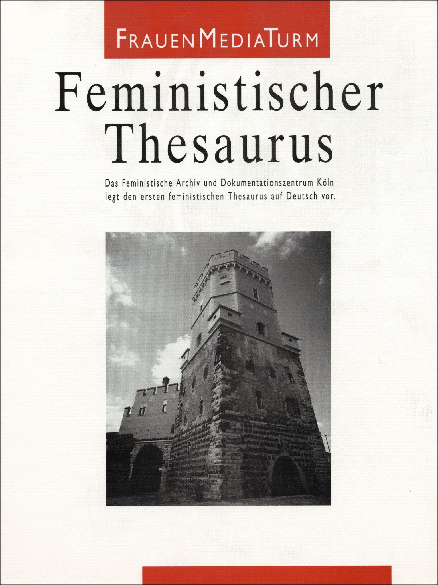 Scheu, Ursula/Schwarzer, Alice (Hrsg.): Feministischer Thesaurus. Köln, FrauenMediaTurm, 1994.