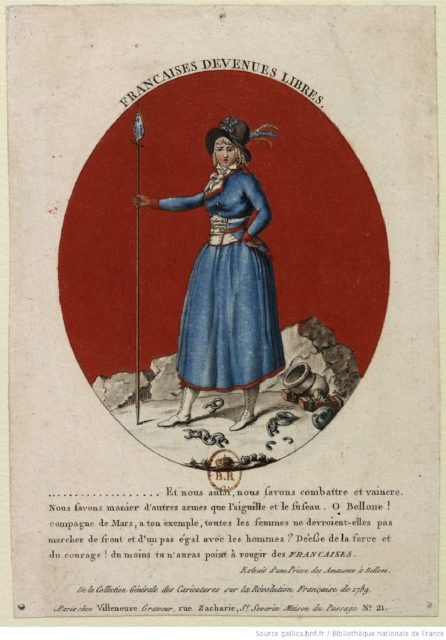 Quelle: Villeneuve? (1790). Française devenues libres..., URL: gallica.bnf.fr/BnF