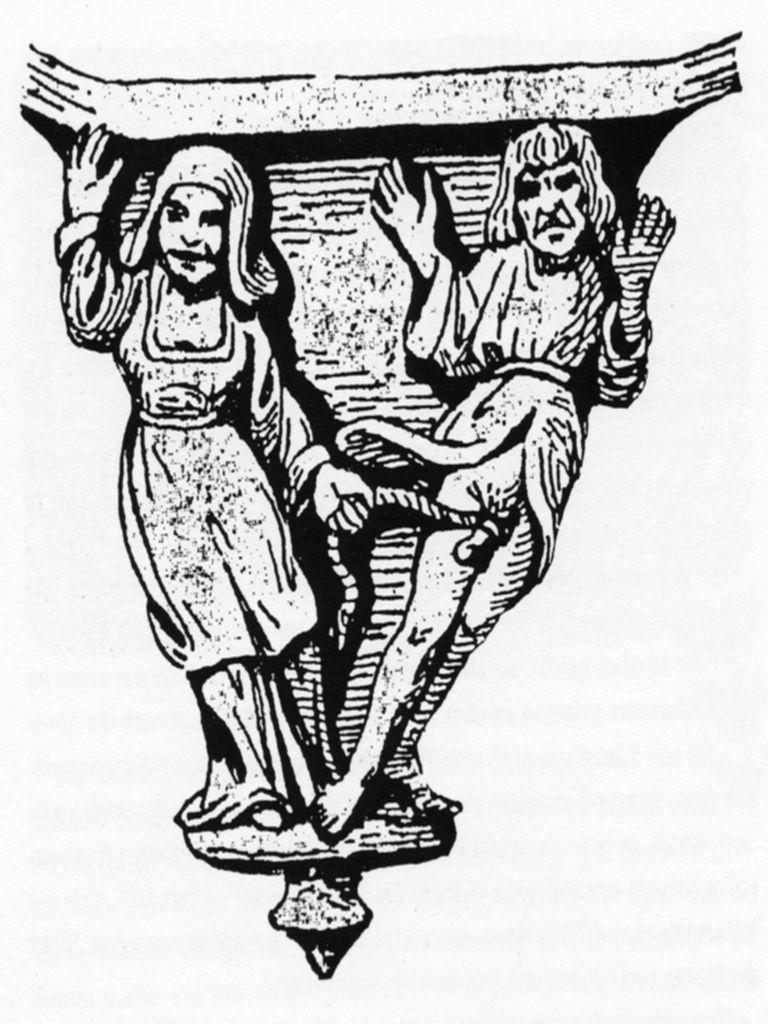 Die Weiberherrschaft, kirchliche Skulptur aus dem 16. Jh.