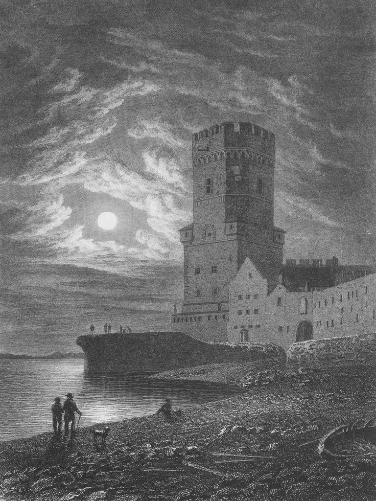 Der Bayenturm, Stahlstich, gezeichnet von Robert Batty, gestochen von R. Wallis, 1826 © Kölnisches Stadtmuseum