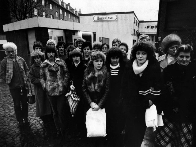 """© Theo Störbrock / EMMA-Archiv: Arbeitskampf der """"Heinze-Frauen"""", 12.01.1979"""