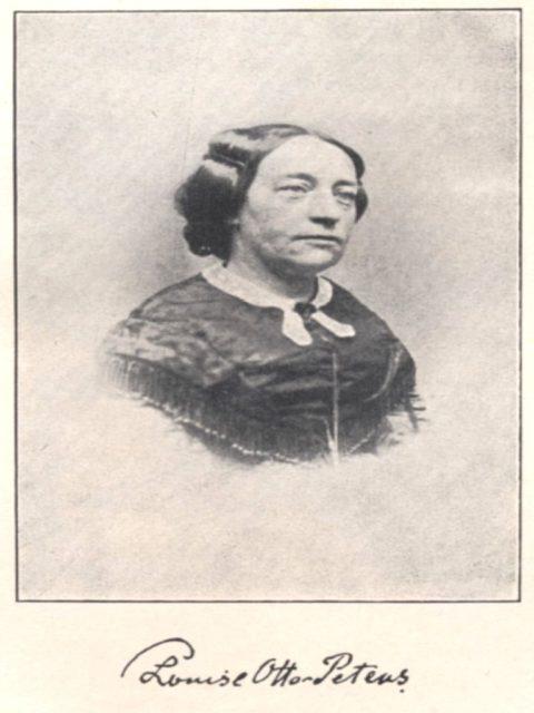 Quelle: Plothow, Anna: Die Begründerinnen der deutschen Frauenbewegung - 4. Aufl., Leipzig: Friedrich Rothbarth, 1907, nach S. 34 [FE.08.104].