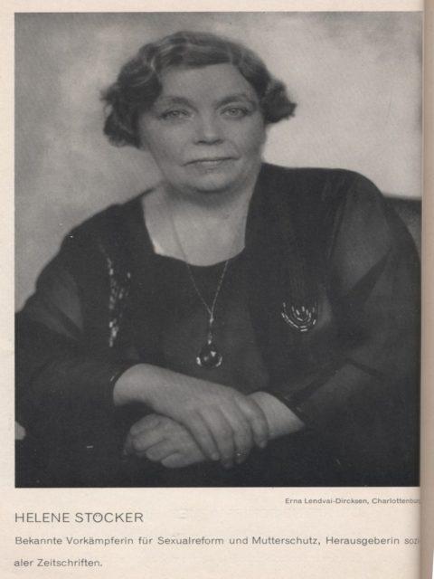 Foto: Erna Lendvai-Dircksen, Quelle: Unsere Zeit in 77 Frauenbildnissen. Leipzig [u.a.]: Niels Kampmann Verlag, 1930. [FMT-Signatur: KU.15.143]