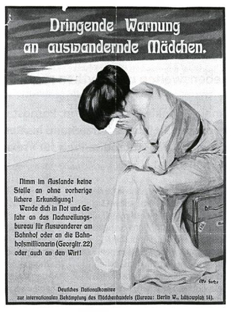 Quelle: Pappenheim, Bertha: Sisyphus.Gegen den Mädchenhandel-Galizien. Kore Verlag. Freiburg.1992. [SE.15.104]