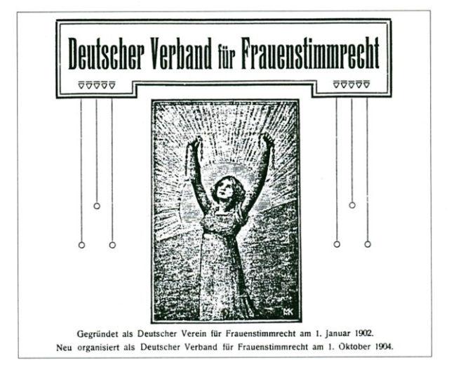 Schiess, Helene [Hrsg.] ; Lewison, Helene [Hrsg.] ; Augspurg, Anita [Hrsg.] ; Heymann, Lida Gustava [Hrsg.] ; Cauer, Minna [Hrsg.] ; Welczeck, Adelheid von [Hrsg.] Deutscher Verband für Frauenstimmrecht. [FMT, Sicherungsschrank]