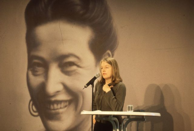 Marlene Streeruwitz bei Beauvoir Kongress (FMT-Signatur FT.04.029)