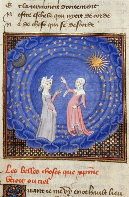 Quelle: The British Library, Harley MS 4431, fol. 189v, URL: https://www.bl.uk/catalogues/illuminatedmanuscripts/ILLUMIN.ASP?Size=mid&IllID=22648