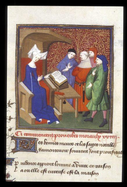 Quelle: The British Library, Harley MS 4431, fol. 259v, URL: https://www.bl.uk/catalogues/illuminatedmanuscripts/ILLUMIN.ASP?Size=mid&IllID=13264