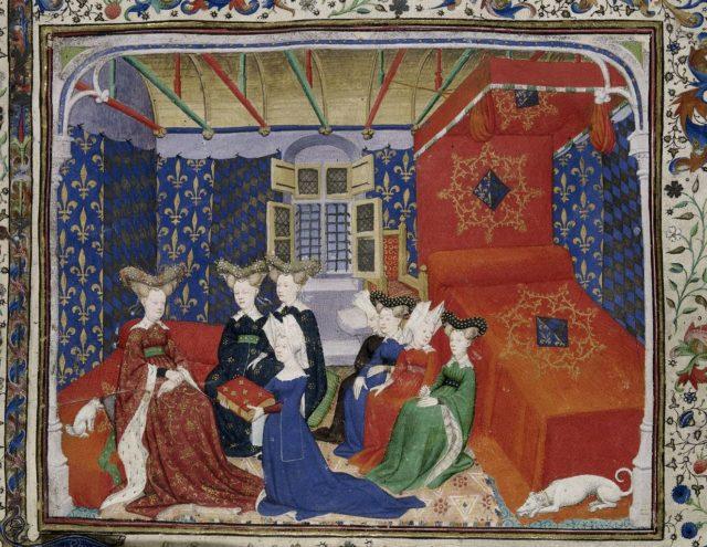 Quelle: The British Library, Harley MS 4431, fol. 3r, URL: https://www.bl.uk/catalogues/illuminatedmanuscripts/ILLUMIN.ASP?Size=mid&IllID=28570