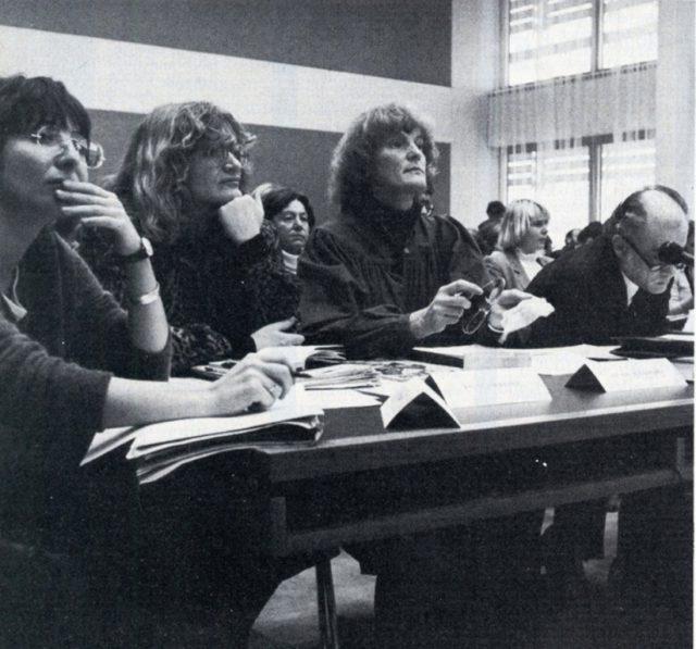 Vera Slupik, Alice Schwarzer und Barbelis Wiegmann (Bildquelle: EMMA 3/1982)