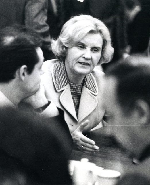 Bundesministerin für Familie und Gesundheit, Antje Huber, 1976 (Quelle: EMMA-Archiv