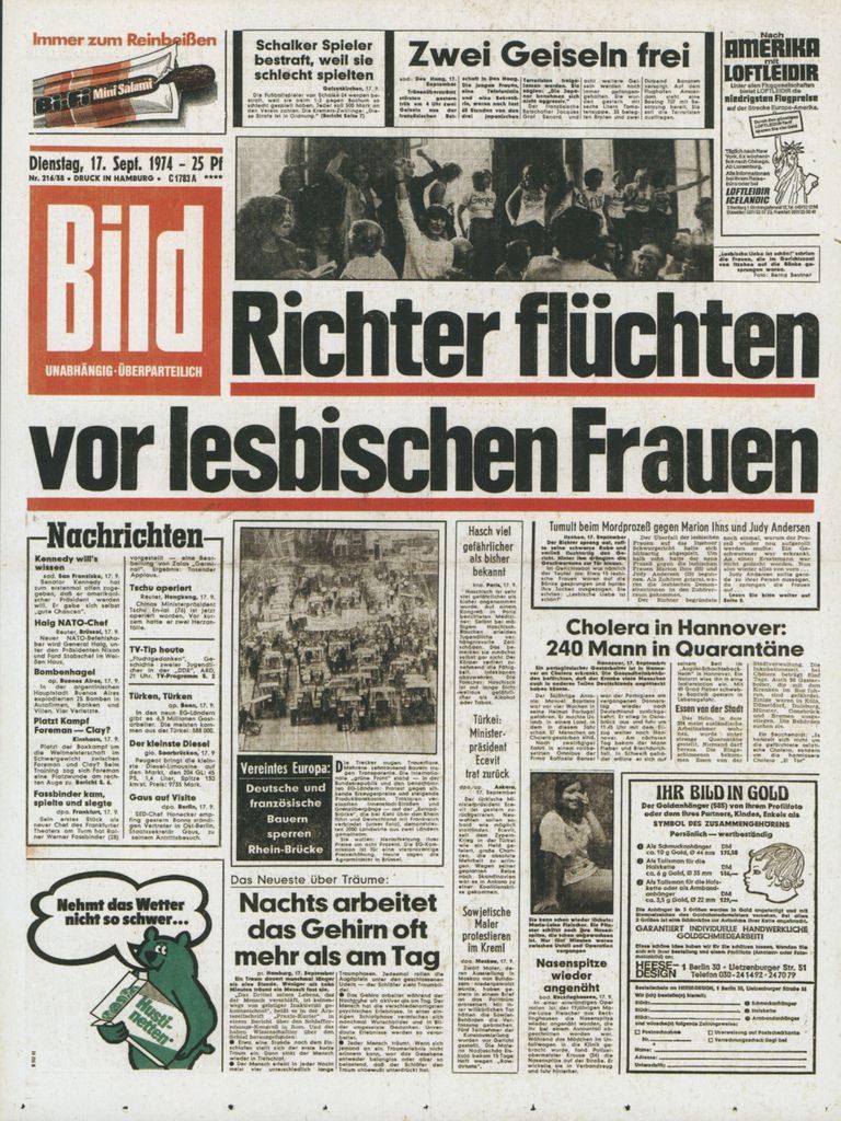 BILD, 17. September 1974