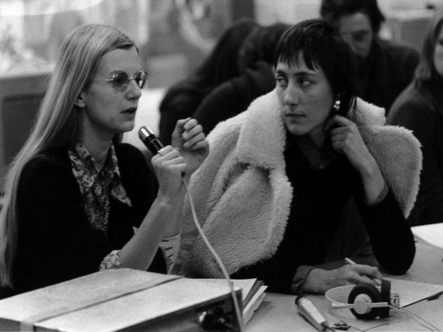 Claudia von Alemann und Helke Sander 1973, Foto: Abisag Tüllmann, Bildnachweis: Bildarchiv Preussischer Kulturbesitz - Abisag Tüllmann Archiv