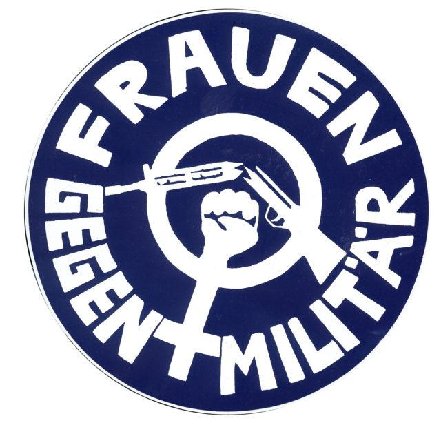 Button: Frauen gegen Militär (o.J.) (FMT-Signatur: VAR.01.004)