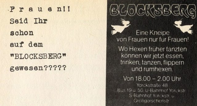 Anzeige Blocksberg, 1975, Quelle: UKZ 1975, Heft 10, S.31 (FMT-Signatur: Z-L301)