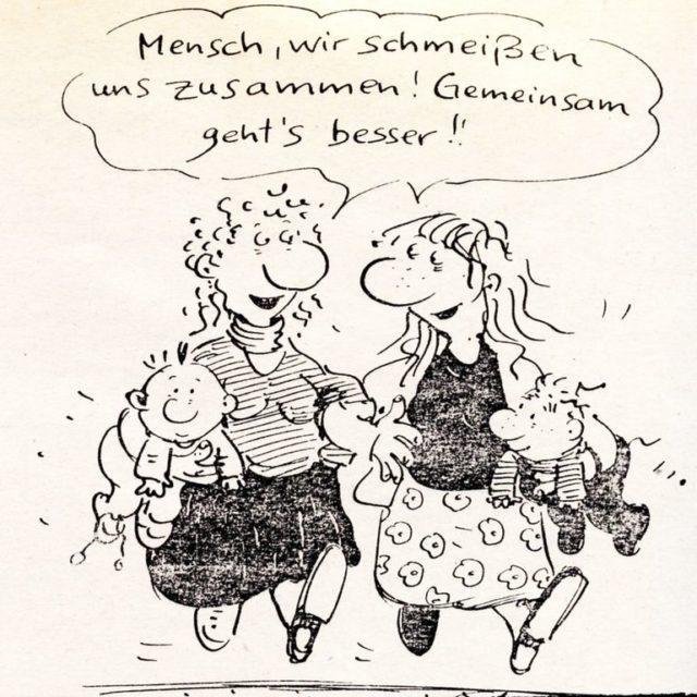 """© Franziska Becker """"Leben mit Kindern - Mütter werden laut"""" : Dokumentation des Kongresses vom 22./23.11.86 : Gedanken zur Mütterpolitik (1987). - Die Grünen [Hrsg.], Selbstverlag. (FMT Shelf Mark: LE.05.065)"""