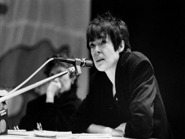 © Ute Weller, Christina Thürmer-Rohr beim UniMut-Kongres in Berlin 1989