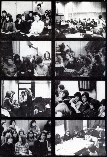 Bilder aus Dokumentation des 2. Treffens von Frauen aus Naturwissenschaft und Technik, Hamburg, Januar 1978 (FMT-Signatur: BI.12.027-02)