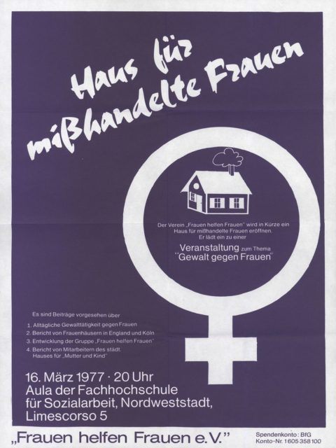 "Flugblatt: Veranstaltung zum Thema ""Gewalt gegen Frauen"", 16.03.1977 (FMT-Signatur: FB.04.091)"