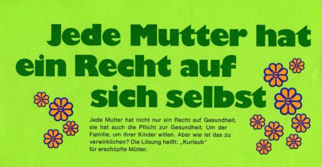 Flyer für Kururlaub, Beilage zur MGW-Presseinformation