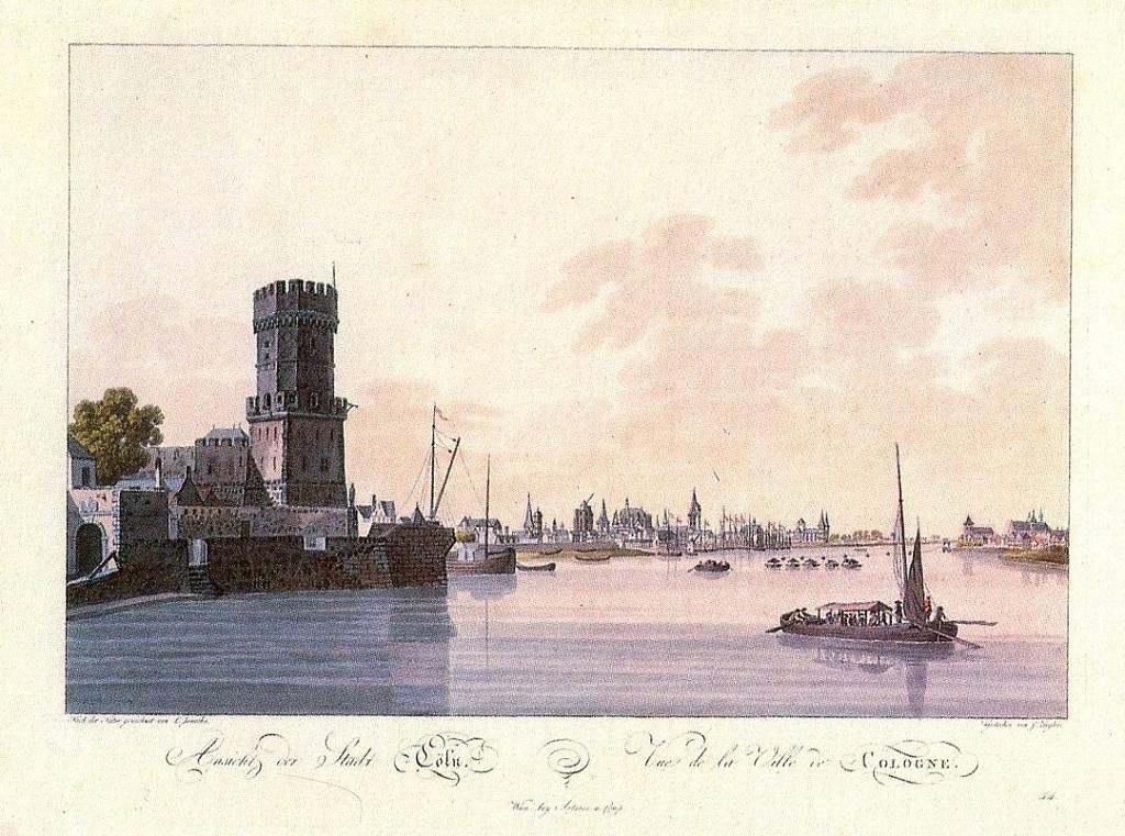 Ansicht von Köln mit Bayenturm, Laurenz Janscha/Johann Ziegler (1798)