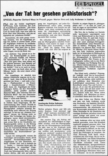Stern, Nr. 38, 1974, Pressedokumentation: Mordprozess gegen Marion Ihns und Judy Andersen, 1973-1987. (FMT-Signatur: PD-LE.11.07, 1974)