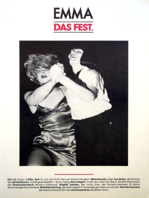 Plakat EMMA-Fest, 1987 (FMT-Signatur: PT.1987-06)
