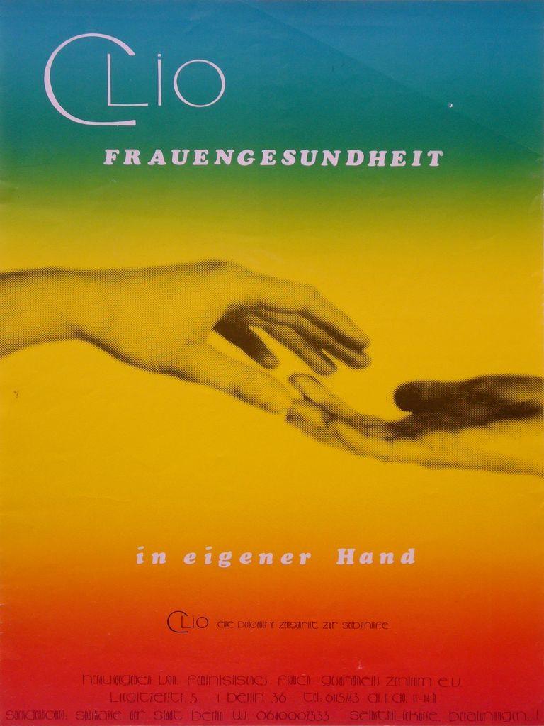 Plakat: Clio : Frauengesundheit in eigener Hand, 1982 (FMT-Signatur: PT.055)