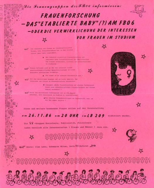 Flugblatt vom 21.11.1986 (FMT-Signatur: FB.02.073)