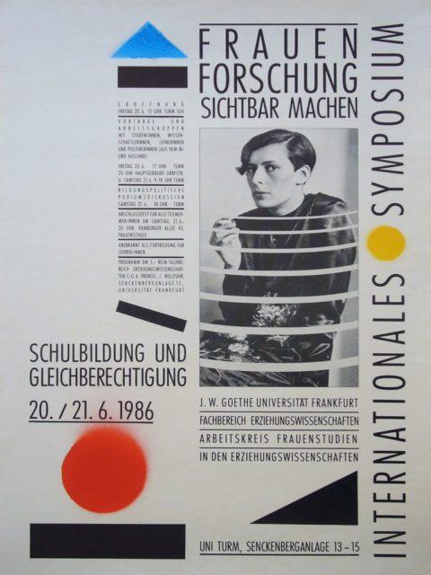 Plakat zum Symposium Frauenforschung sichtbar machen, 1986 (FMT-Signatur: PT.1986-05)