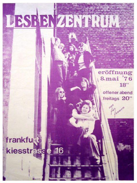 Plakat Eröffnung Lesbenzentrum Frankfurt/M, 1976 (FMT-Signatur: PT.1976-05)
