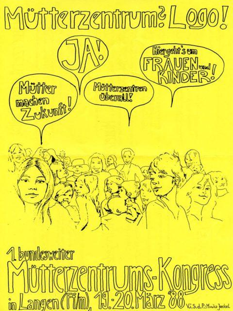 © Monika Jaeckel: 1. bundesweiter Mütterzentrums-Kongress in Langen (FfM), März 1988 (FMT-Signatur: in PD-LE.05.01)