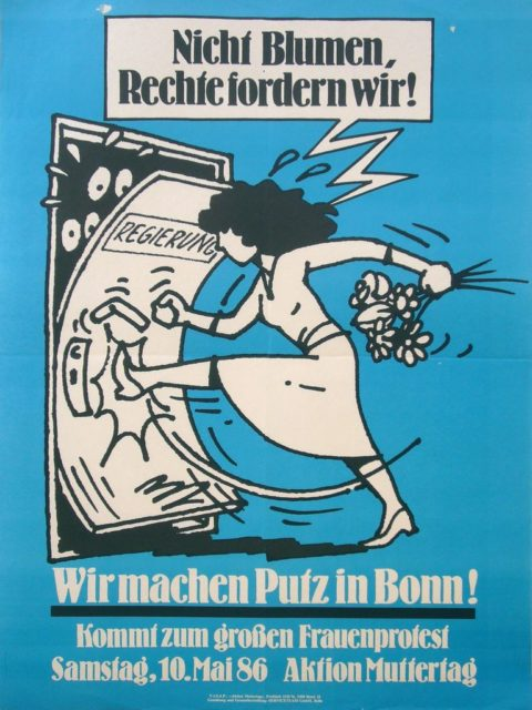 Nicht Blumen, Rechte fordern wir! : Wir machen Putz in Bonn! (FMT Shelf Mark: PT.1986-04)