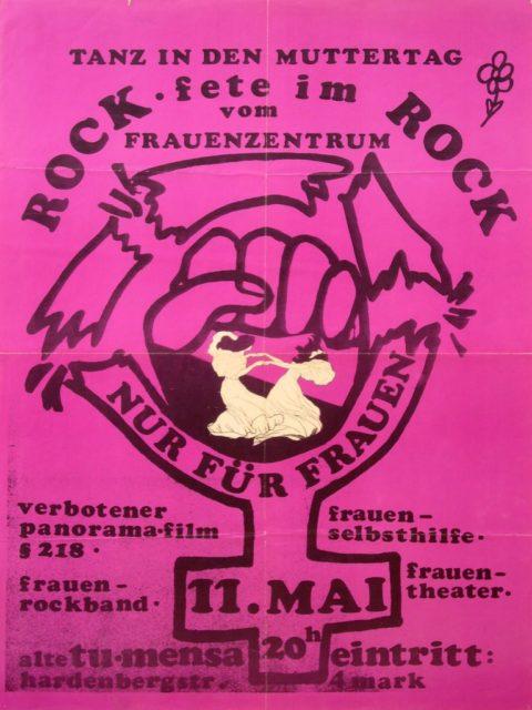 Plakat Rock-Fete im Rock, 1974 (FMT-Signatur: PT.1974-01)
