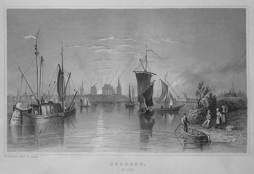 Ansicht von Köln um 1840, William Tombleson