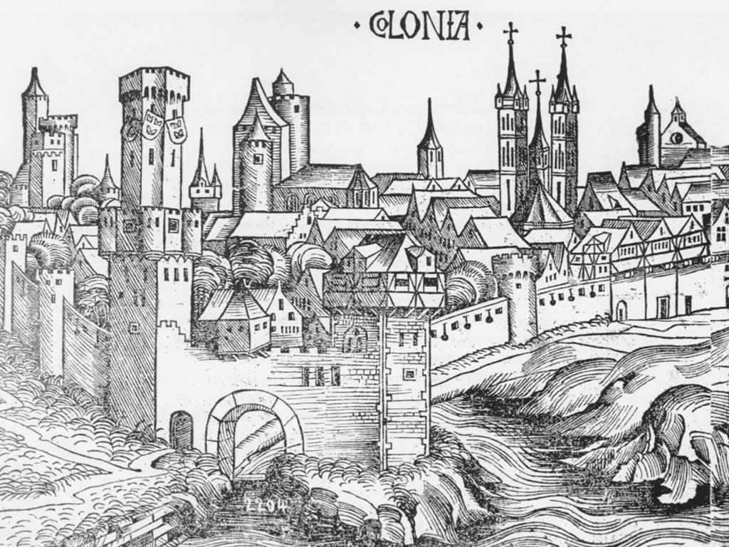 Colonia nach Hartmann Schedels Weltchronik 1493 (Quelle: Turmbuch)