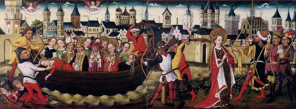 Legende der heiligen Ursula: Ankunft in Köln und Martyrium, um 1450/60