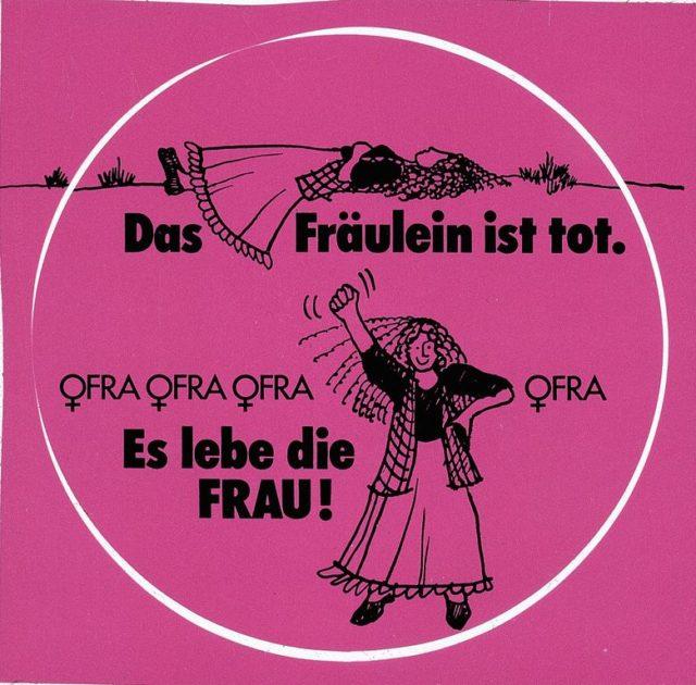 Aufkleber OFRA (FMT-Signatur: VAR.01.051)