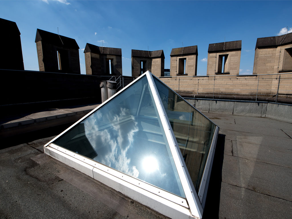 Dach Bayenturm mit Himmelsauge, Copyright: FMT / Bettina Flitner